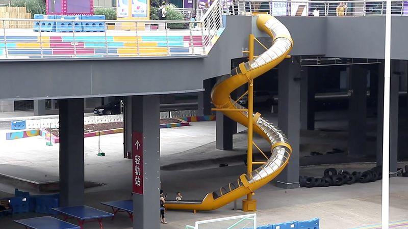 Viral,south china morning post,chingqong train slide,slide china train station,china train slide,slide train station,train station slide,
