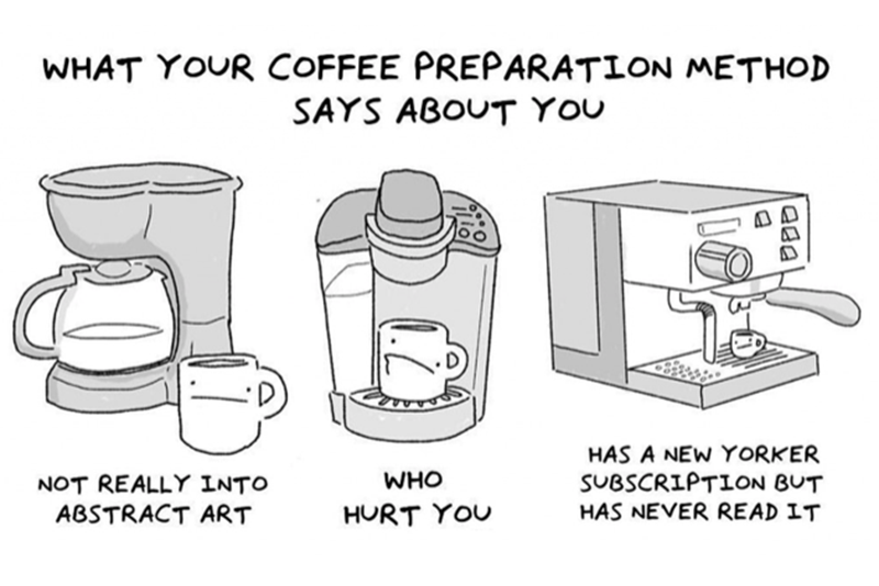Coffee,Preperation,Musician,Comic,Tommy Siegel ,Illustrations,Viral,