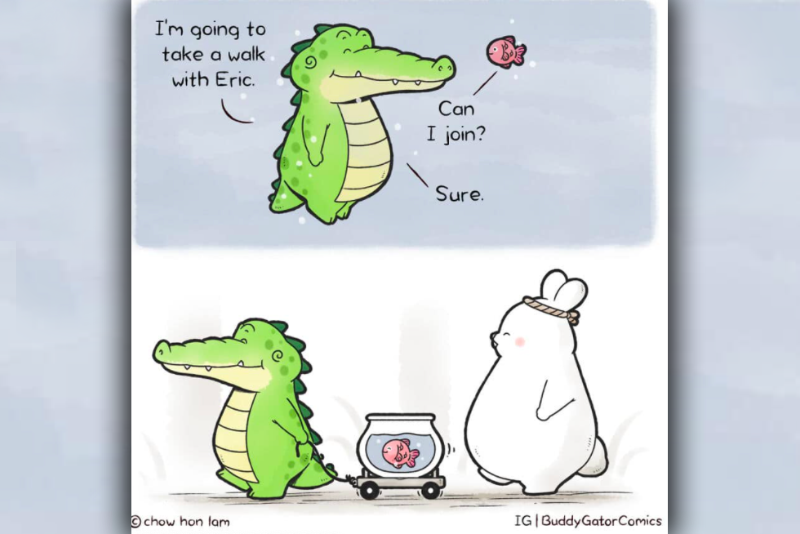Viral,Chow Hon Lam,Friendship,Kindness,Friendly,Drawings,Animated,Animals,Comic,